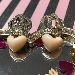 Juicy Couture vintage earrings small crown hearts
